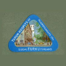 Collectable Hotel label luggage label FINLAND Triangle pretty image #116